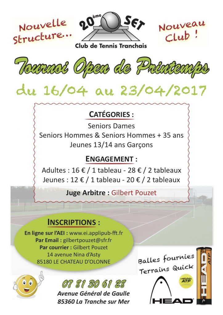 affiche tournoi Open