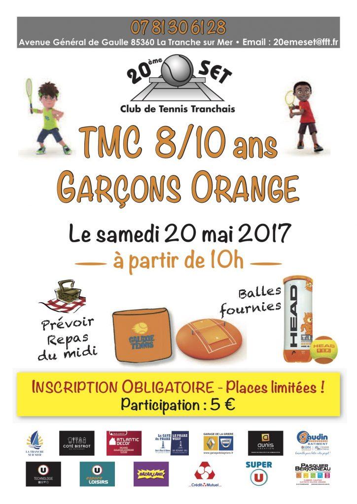 affiche TMC 8_10 ans garçons Orange